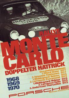 Porsche 911, Rally Monte Carlo. Doppelter Hattrick! 1968, 1969, 1970