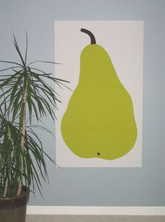 Marimekko pear fabric wall hanging