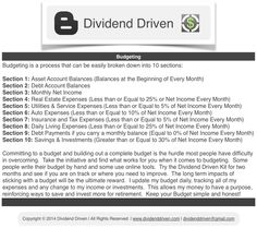 Dividend Driven | Budgeting