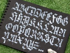 And the practice continues! Gothic Lettering, Graffiti Lettering Fonts, Chicano Lettering, Gothic Alphabet, Graffiti Alphabet, Calligraphy Fonts Alphabet, Cursive, Modern Calligraphy, Tattoo Lettering Styles