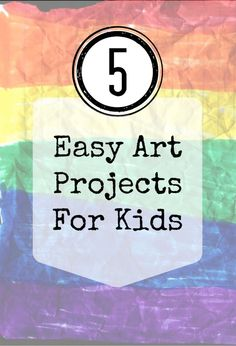A series of 5 easy art projects for kids from Artchoo.com