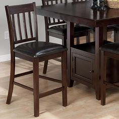 Jofran 933-BS429KD - Tessa Chianti Casual 4-Slat Back Bar Stool with Faux Leather Seat Cushion | Sale Price: $95.15