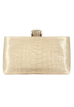 Pochette beige en cuir exotique, Chanel