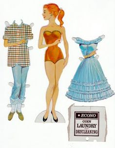 I have this same paperdoll set, my mom gave it to me to put in my daughters room!