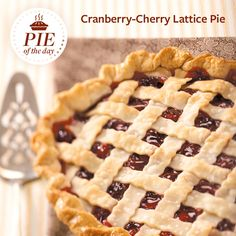 Cranberry-Cherry Lattice Pie Recipe from Taste of Home -- shared by J. Tomasi, Toledo, Ohio