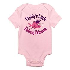 Daddy's Fishing Princess Infant Bodysuit