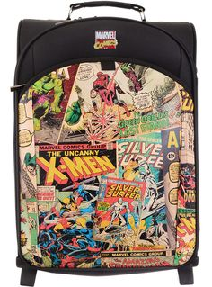Retro Marvel Comics Luggage Suitcase by Marvel Comics | Travel Bags | PLASTICLAND