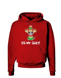 TooLoud Oh My Gato - Cinco De Mayo Dark Hoodie Sweatshirt