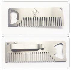Metal Bottle Opener Beard Comb