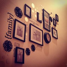 My staircase wall decor!! I just love the cluster look!! Just need to add my own photos now!!