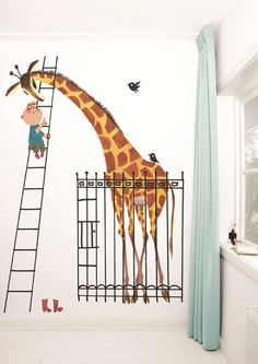 Welcome to KEK Amsterdam's official web site – Designers of unique Wall Decals, Wall Stickers, Wallpaper, Wall Murals and Posters for your home. Kids Wall Murals, Murals For Kids, Kids Room Design, Wall Design, Wall Stickers, Wall Decals, Amsterdam Wallpaper, Giant Giraffe, Baby Kind