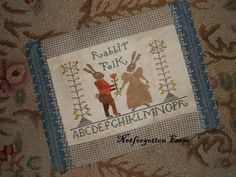 cross stitch pattern Rabbit Folk from by notforgottenfarm, $8.00