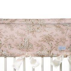 Glenna Jean 2 Piece Maddie Convertible Short Crib Rail Protector, Pink