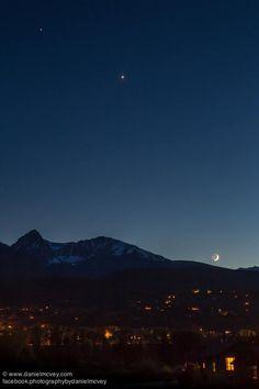 Moon, Venus, Jupiter on June 18, 2015 by Daniel McVey in Silverthorne, Colorado.