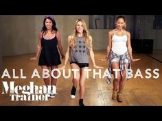 "A step-by-step choreography tutorial of the Meghan Trainor ""All About That Bass"" dance routine. Original choreography by Fatima Robinson - this is my interpr. Dance Workout Videos, Zumba Videos, Dance Videos, Zumba Workouts, Dance Exercise, Line Dance, Line Dancing Steps, Dance Choreography, Dance Moves"