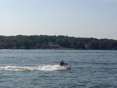 Jet skis are a blast to ride at the Apple Valley Lake.