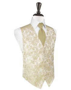 Golden Tapestry Tuxedo Vest