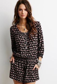 Abstract Mandala Print Romper | Forever 21 - 2000053277