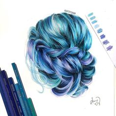 WANT A FREE FEATURE ? CLICK LINK IN MY PROFILE !!! Tag #LADYTEREZIE Repost from @artbysammi Winter-inspired hair. Referenced from a look by @hairandmakeupbysteph. via http://instagram.com/ladyterezie