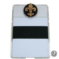Notepad with Gold Fleur de Lis and Black enamel