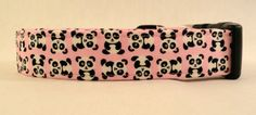 Awesome Cute Mini Panda Bears on Pink Dog Collar by Maltipaws, $12.95