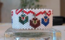 Ornaments Tea Light Cover Beading Pattern by Diane Masters AKA Phoenix Wolf Creations at Bead-Patterns.com