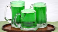 Raise your glass to St. Pat with this shamrock-colored drink.