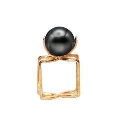 SYDNEY PEARL RING- 18K YELLOW GOLD AND TAHITIAN PEARL