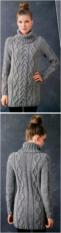KNITTED SPOKES THE SWEATER WITH BRAIDS