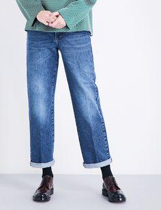 DRIES VAN NOTEN Pisco boyfriend-fit high-rise jeans