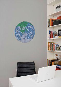Adesivo de parede Mundo Bit