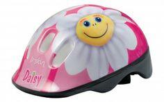 Kask dziewczęcy z wizerunkiem uśmiechniętej stokrotki - marzenie każdej małej dziewczynki ;)