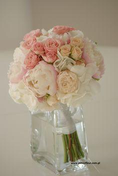 PetiteFleur Dekoracje Ślubne Płock Wedding Bouquet Peonia, Hydrangea, Rosa