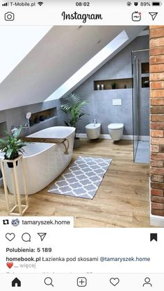 Luxury bathroom design for inspiration and ideas for your bathroom decor. Marble and natural stone flooring and walk-in shower. Usage of white and black interior designs. 7 Badezimmer Ideen Design 2019 – No related posts. Loft Bathroom, Small Bathroom, Bathroom Ideas, Bathroom Designs, Budget Bathroom, Bathroom Remodeling, Bathroom Design Tool, Shower Ideas, Brick Bathroom