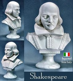 Shakespeare Bust Statue Sculpture Portrait