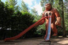 "Vintage KING KONG gorilla slide in adventurepark ""Harry Malter"" - Destelbergen Belgium."