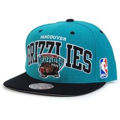 Vancouver Grizzlies Mitchell & Ness NBA Team Arch Throwback Snap Back Hat by Mitchell & Ness. $20.00. Snap back. Manufactured by Mitchell & Ness. Officially licensed. Quality embroidery. Made of 100% wool which provides a true throwback look. Help support your favorite team in this NBA Team Arch Retro Snap Back Hat from Mitchell & Ness. Features embroidered logo's, stylish adjustable snap back, and contrasting team colors for added style. Made of 100% wool and officially license...