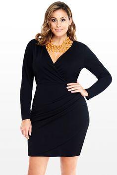 $43 Faux Wrap Dress - Fashion to Figure
