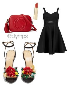 """""""x"""" by petrasvetlanamelinte on Polyvore featuring Boohoo, Charlotte Olympia and Gucci"""
