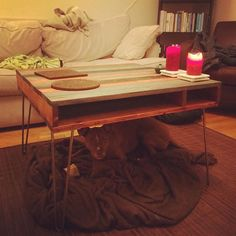 @gaulson upcycled his ikea bed slats - glued sanded and stained - for a new look and use! : @gaulson
