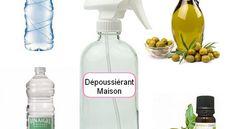 Recette maison dépoussiérant sain et naturel et économique avec des ingrédients que nous avons tous dans nos armoires de cuisine.