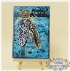 Couture Creations: Feather Card by Sue Smyth