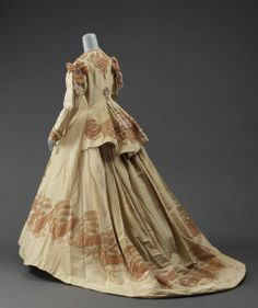 Dressing gown, 1865-70, United States or France.