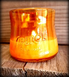 Aperol recycling bottle,  soy wax candles,  eco non spreco!