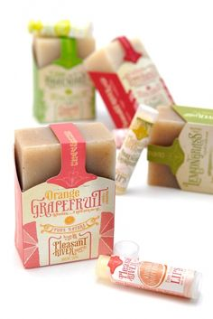 Cute soap packaging.