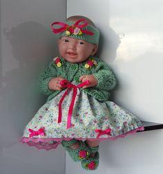 "Handmade Baby Dolls Clothes for 12""-14"" BERENGUER / CUPCAKE La Newborn / Reborn"