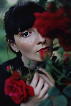 Red roses portrait