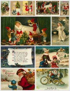 Vintage Christmas Collage Sheet