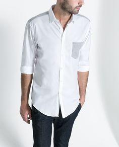 CAMISA DETALLES PUNTO - Camisas - Hombre | ZARA España