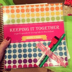 My new planner for 2014 that I am going to enjoy so much! My friend Jessica was so sweet to send me one, I loved the one I got last year and this was is even better! New features were added like daily fit tips which I love!  #pinyourkit